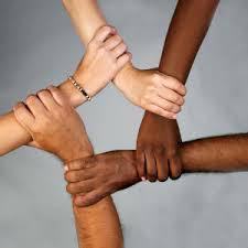 linking hands
