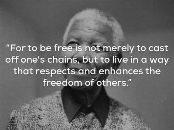 MANdela For to be free is